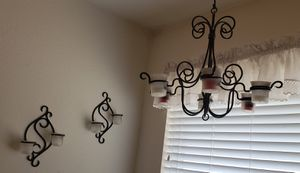 Candle holders, wall sconce, chandelier, Partylite for Sale in Saginaw, TX