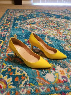 NEVER WORN! Christian Louboutin Yellow heels $150 (great condition) (size 36 / 5.5 women's) for Sale in Houston, TX