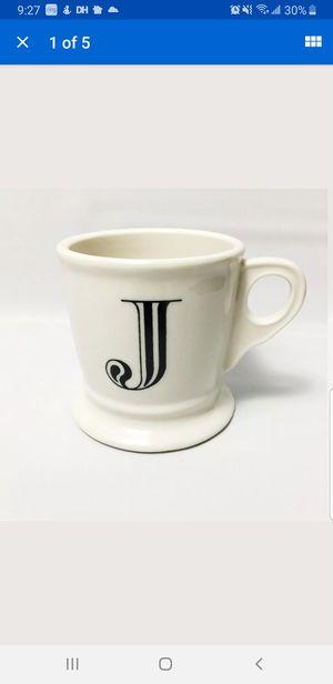 Anthropologie monogrammed J letter coffee mug for Sale in Elk Grove, CA