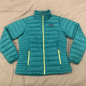 WOMENS PATAGONIA DOWN SWEATER JACKET PUFFER Aqua Blue SZ L JACKET for Sale in Everett, WA