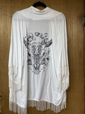 White fringe cover up for Sale in Brooklyn, NY