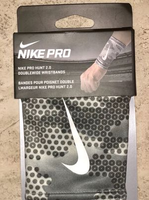Nike Pro Hunt 2.0 Doublewide Wristbands AC3469-076 for Sale, used for sale  Brecksville, OH