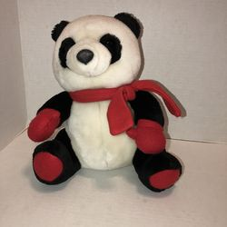 "Hallmark panda bear plush soft toy stuffed animal w Christmas tree on scarf 10"" for Sale in Albany,  OR"