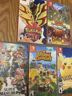 Nintendo Switch Games Bundle Pokemon Zelda Smash Bros for Sale in Stanford,  CA