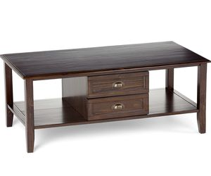 Burlington Espresso Brown Pine Coffee Table for Sale in Brecksville, OH