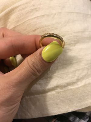 18K Yellow Gold plated Promises/Wedding Ring- Code W101 for Sale in Sacramento, CA