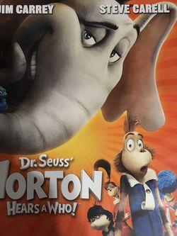 Dr. Seuss Horton Hears A Who Dvd Movie for Sale in Elma,  WA