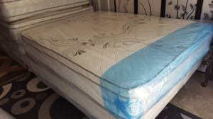 Queen Size Pillowtop Mattress + Box Spring for Sale in Silver Spring, MD