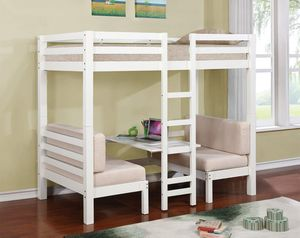 New Joaquin White or brown convertible bunk bed twin for Sale in Miami, FL