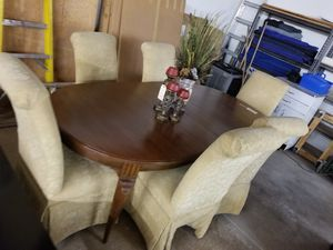 Dining table w/6 chairs 🎃 We are located at 2811 E. Bell Rd.  We are Another Time Around Furniture for Sale in Phoenix, AZ