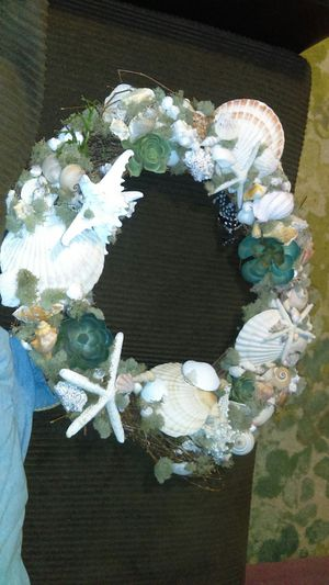 wreaths made out of shells for Sale in Anaheim, CA