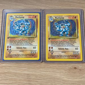 2 Pokemon MACHAMP 1st Edition 1999 HOLO EXCELLENT #8/102 for Sale in Gaithersburg, MD