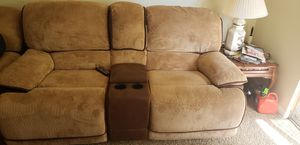 Tan pull out sectional couch for Sale in St. Louis, MO