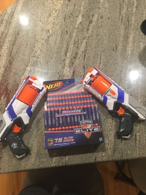 Nerf guns comes with Ammo and already loaded for Sale in Westport, MA