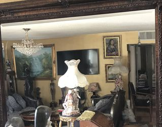 Louis XV French Large Antique Credenza/Curio /Armoire/cabinet /buffet & French Antique Large Mirror Together Luxury Pieces $ 550 for Sale in Los Angeles,  CA