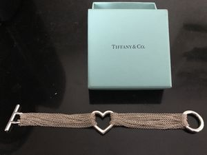 Tiffany & Co. **RETIRED** Open heart, mesh, multi-strand toggle bracelet for Sale in Parma, OH