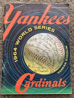 1964 New York Yankees vs St Louis Cards Cardinals World Series Baseball Program for Sale in Brea, CA