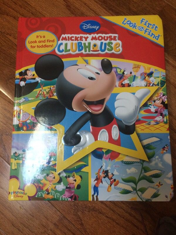 Mickey Mouse look and find book