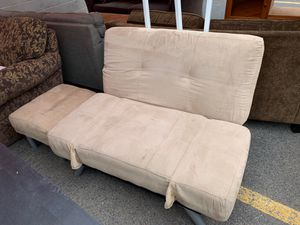 Tan futon and footstool for Sale in Ashland, OR