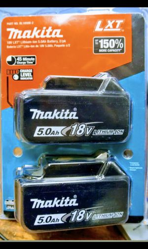 MAKITA 18V 5.0 BATTERY 2 PACK for Sale in San Bernardino, CA
