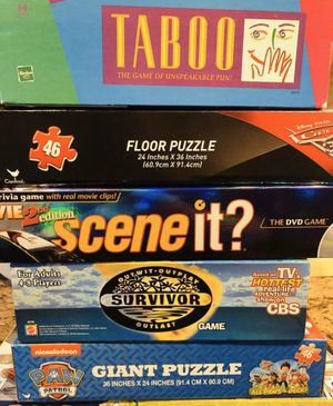 Board games & Puzzles Price is for Each for Sale in Rancho Cucamonga, CA