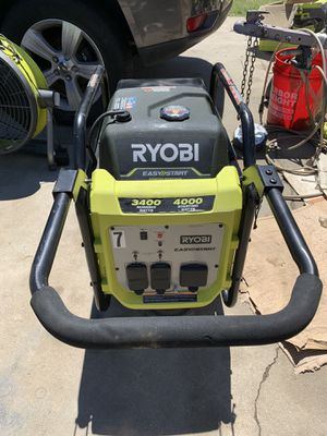 Ryobi 4000 watt gasoline powered digital inverter generator for Sale in San Bernardino, CA