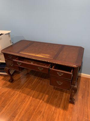 Executive solid wood desk - cherry oak color for Sale in Manassas Park, VA