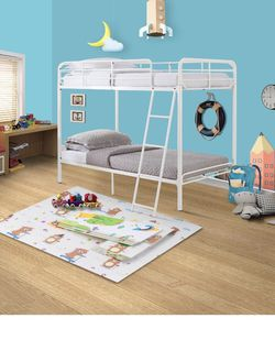 Brand New twin over twin bunk bed - White for Sale in Dearborn,  MI