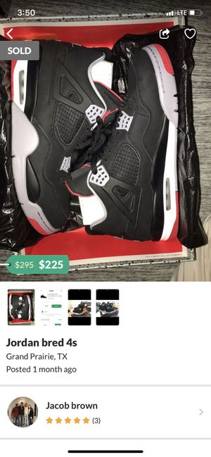 Jordan Retro 4 Breds for Sale in Federal Way, WA