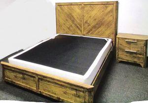 New!! 2Pc Bed Set,Furniture,Queen Bed,Bedroom,2 Drawer Nightstand,Bed-QUEEN SIZE for Sale in Phoenix, AZ