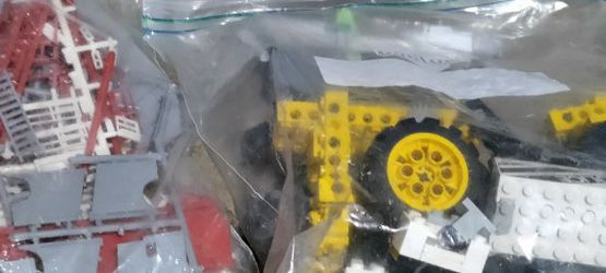 Vintage Legos And Connects Erector Build A Rocket Set Or Something Plus A Race Track And Rock'em Sock'em Robots for Sale in Pleasant Hill,  IA