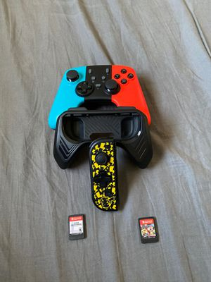 Super smash bros, Mario kart 8 and nintendo switch accessories for Sale in Pembroke Pines, FL