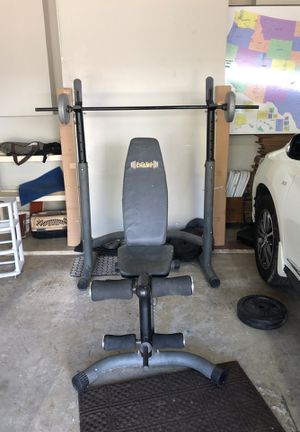 Gym bench equipment. Available today only. for Sale in Dallas, TX