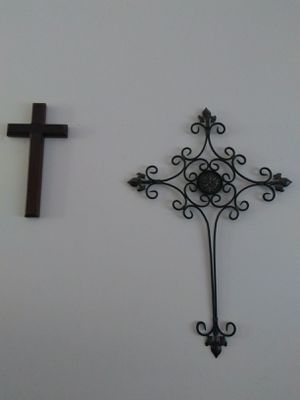 Two crosses - bronze and wood for Sale in Oakton, VA