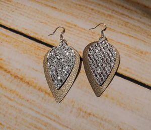 Faux Leather Earrings Silver and Bronze for Sale in Cleveland, TN