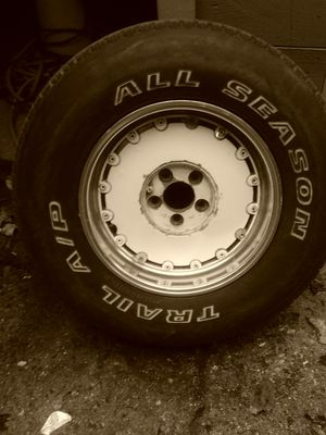 White and chrome rims and tires comes off Jeep Grand Cherokee for Sale in Baltimore, MD