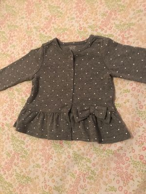 Baby polka dot cardigan with bow size 9 months baby never got to wear! for Sale in South Gate, CA