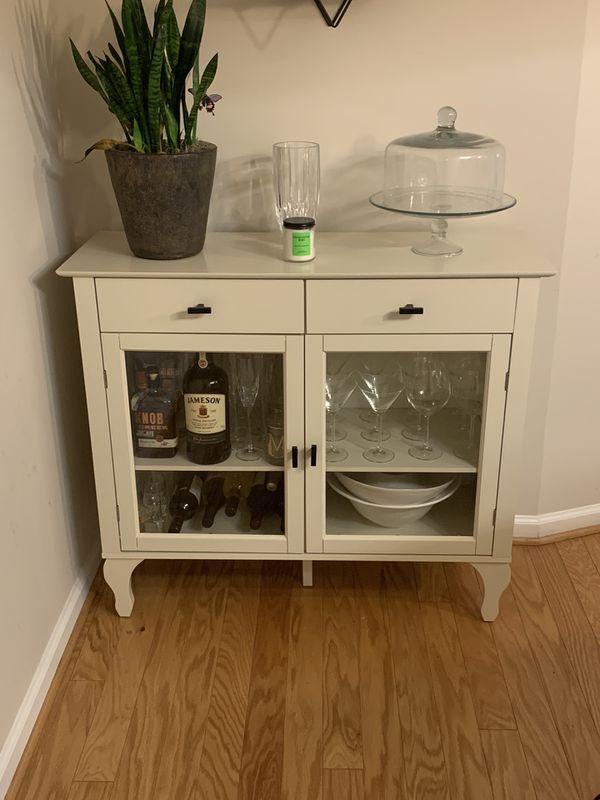White Buffet Table/Bar Cart
