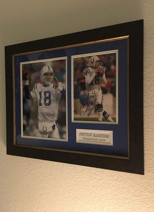 Payton Manning signed photo! Comes framed and hangable for Sale in Tempe, AZ