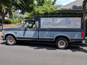 93 Ford f150 low miles landscape rack runs drives title good tags for Sale in Portland, OR