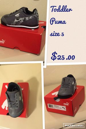 Size 5T puma shoes for Sale in West Valley City, UT