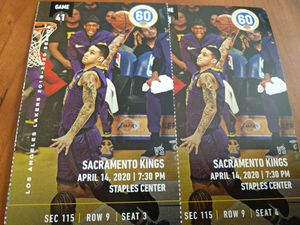 2 tickets Lakers vs. Kings Section 115, Row 9 for Sale in Los Angeles, CA