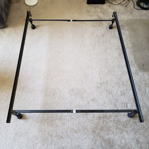 Adjustable Metal Bed Frame with Wheels for Sale in Los Angeles, CA