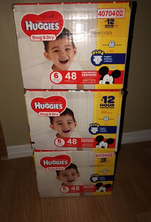 Huggies Snug and dry 48pk 3 boxes for Sale in Apple Valley, MN