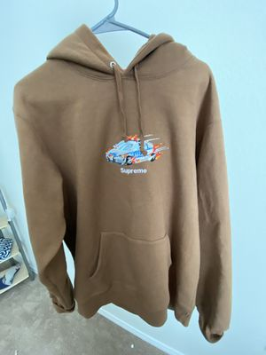 Supreme Cop Car Hooded Sweatshirt Brown L for Sale in Austin, TX