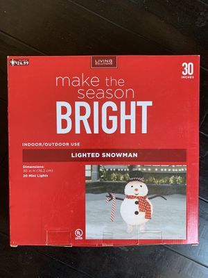Christmas Lighted Snowman (New) for Sale in Hanover Park, IL