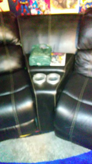 Large sectional couch with lifhted cup holders and bottom lights for Sale in Warren, MI