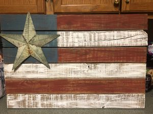 Rustic Wooden Flag for Sale in Appomattox, VA