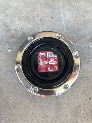 """Fast Set 3""""x4"""" ABS, Hub Toilet Flange with Test Cap and Stainless Steel Ring for Sale in Lakewood, CA"""