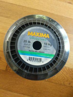 Maxima Ultragreen Bulk Fishing Line 20 lb - 2630 yd MBG 20 for Sale in Portland, OR